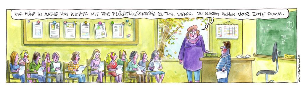 Der Cartoon wurde mit dem Heinrich-Zille-Karikaturenpreis 2019 ausgezeichnet