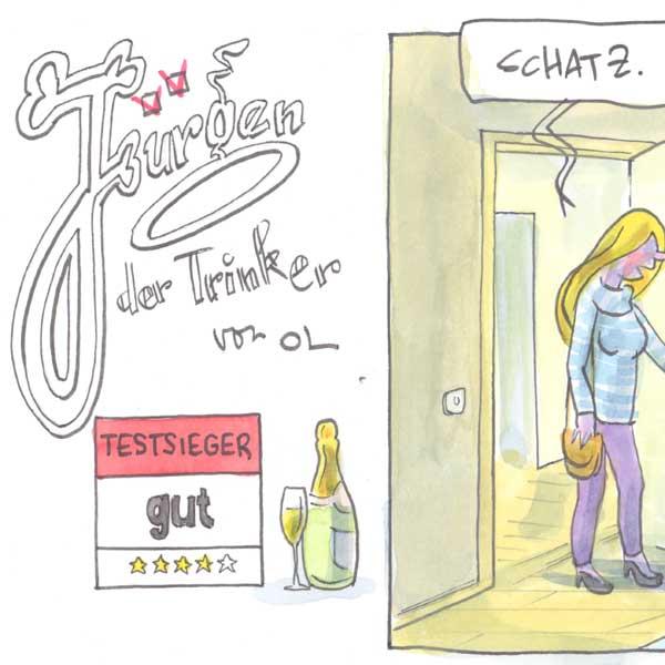 Jürgen der Trinker - Schwangerschaftstest