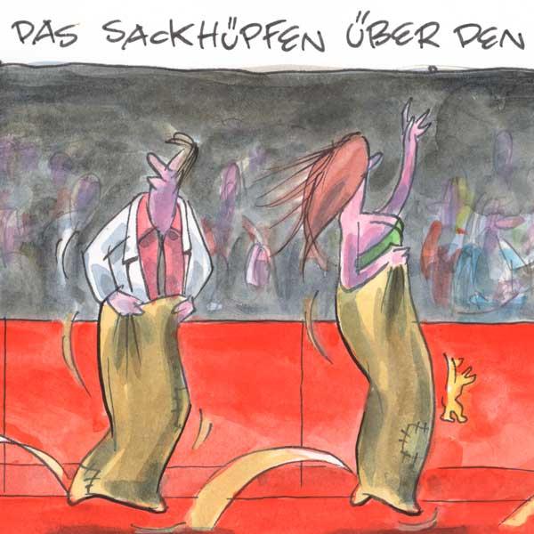 Berlinale Sackhüpfen
